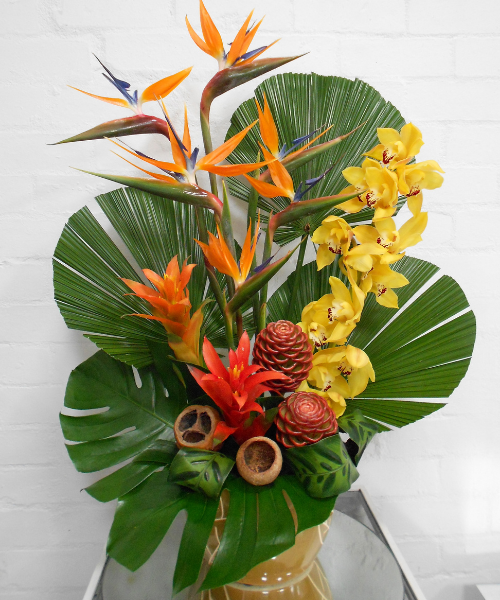 corporate and cafe flowers tropical